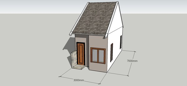 3D indonesia type 21 house model