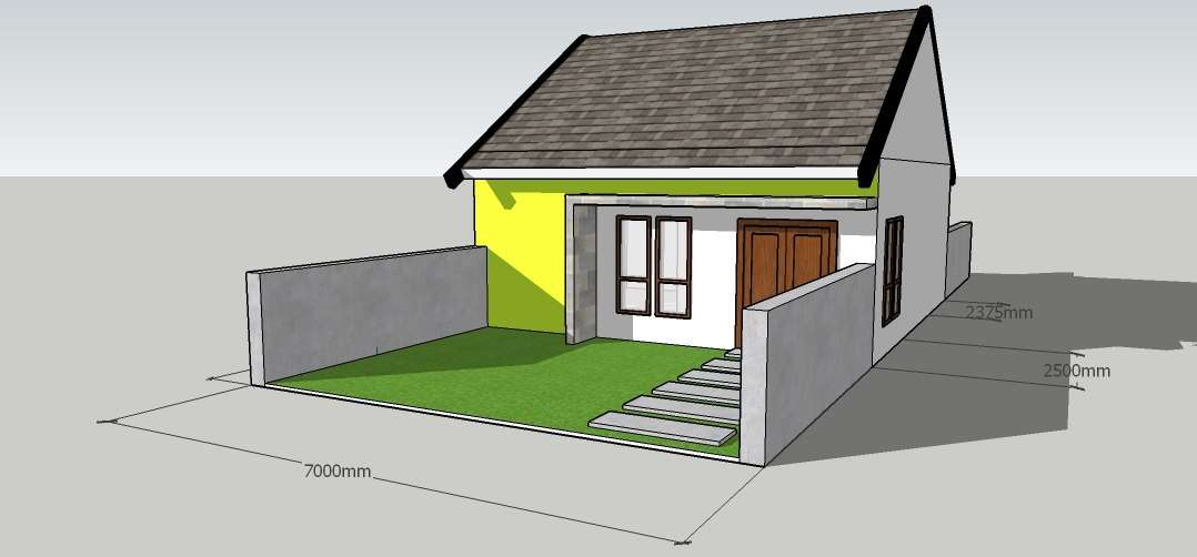 indonesia type 45 house 3D model