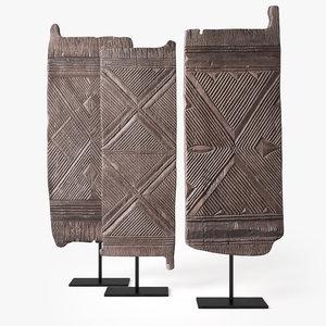 igbo door nigeria - 3D model
