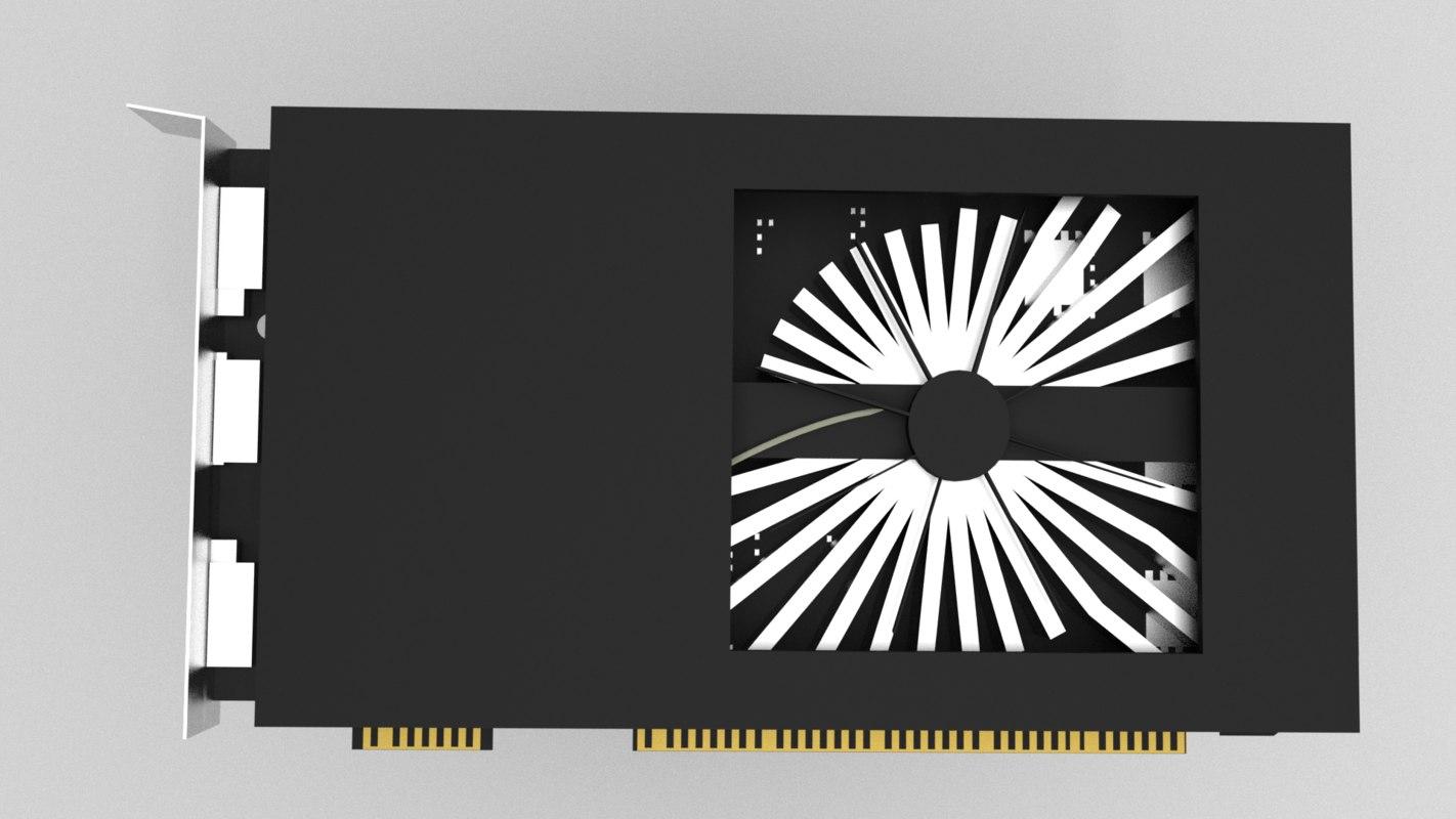 3D model 1050 zotac gtx