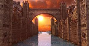 city fantasy 3D