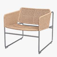 Ikea Industriell Armchair natural grey