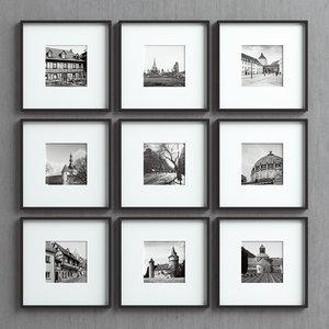 3D picture frames set -29 model