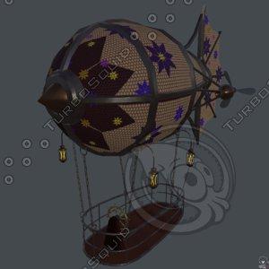 steampunk zeppelin 3D