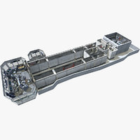3D uss cvn aircraft carrier model