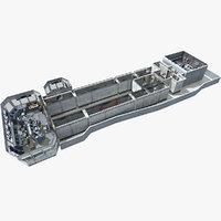 3D uss cvn aircraft carrier model