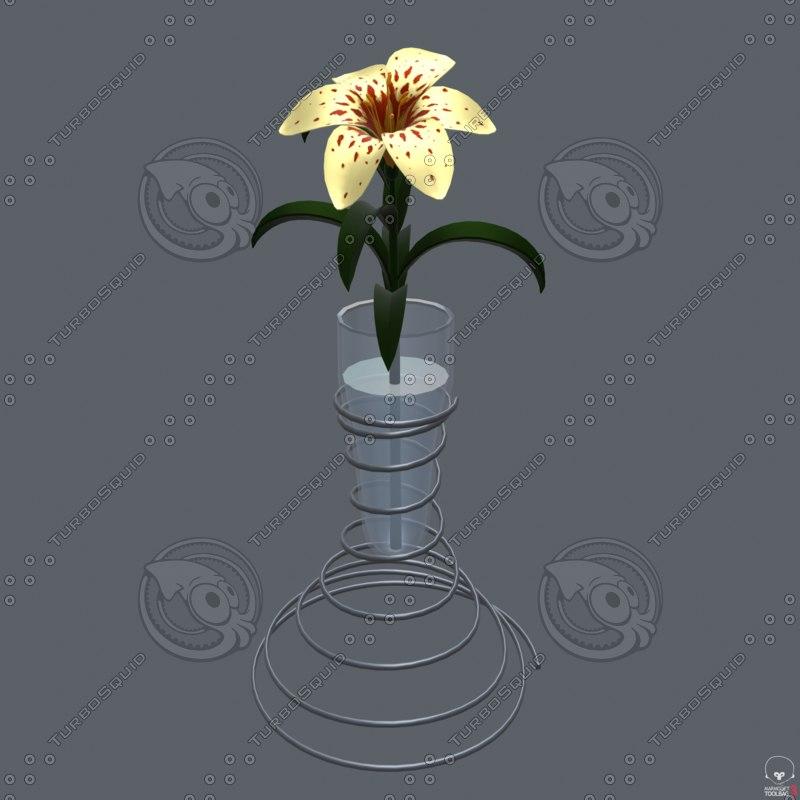 3D model lily vase