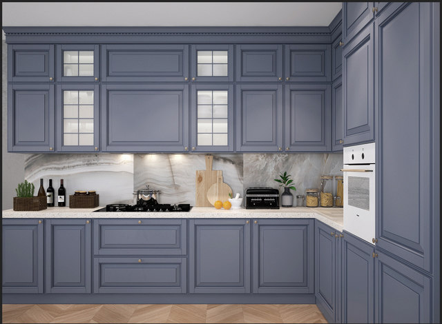 3D model classical kitchen