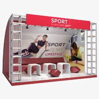 3D exhibition sport shoes stand model