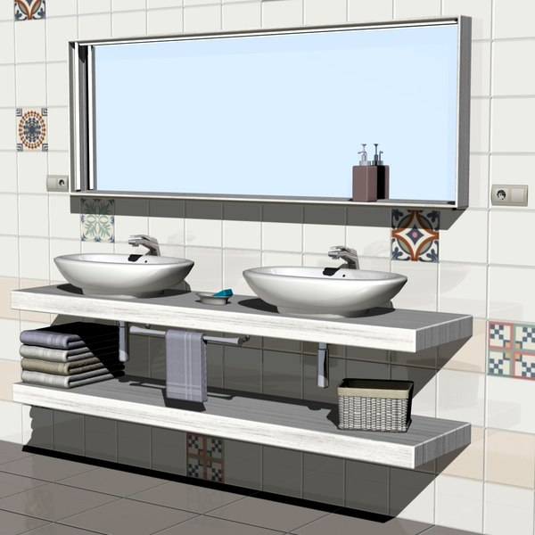 bathroom furniture 3D