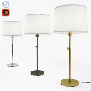 3D robert abbey table lamp