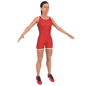 3D female athlete