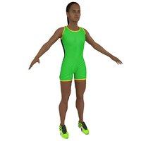 female athlete 3D model