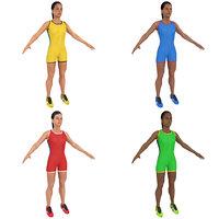 pack female athlete 3D model
