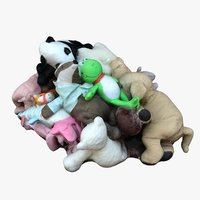 3D pile plush animals