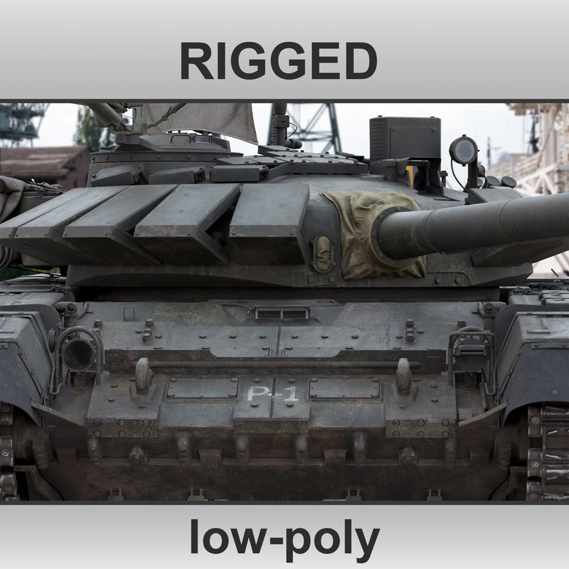 3D main battle tank rig