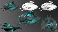 spaceship photoshop 3D model