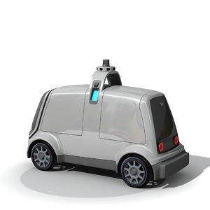 self drive vehicle 3D model