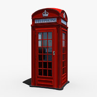 london telephone box 3D