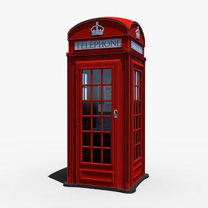 london telephone box 3D