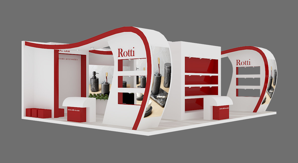 exhibition stand 03 3D model