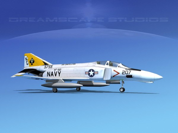 mcdonnell douglas f-4 phantom 3D model