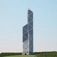 bank tower kong 3D model