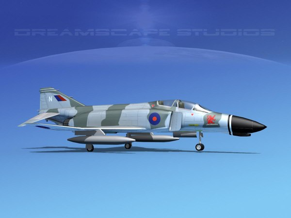 3D mcdonnell douglas f-4 phantom model