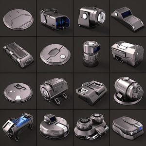 3D sci fi kitbash 02