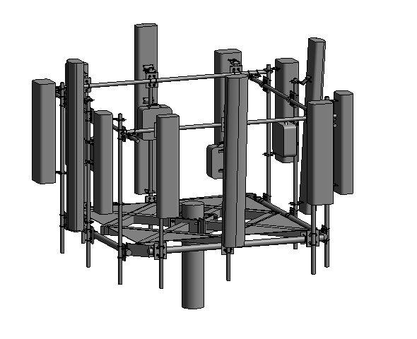 revit family 2016 antenna 3D