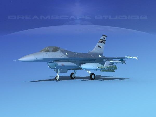 3D general f-16a falcon dynamics model