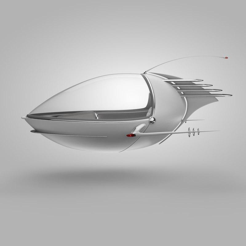 self flying 3D model