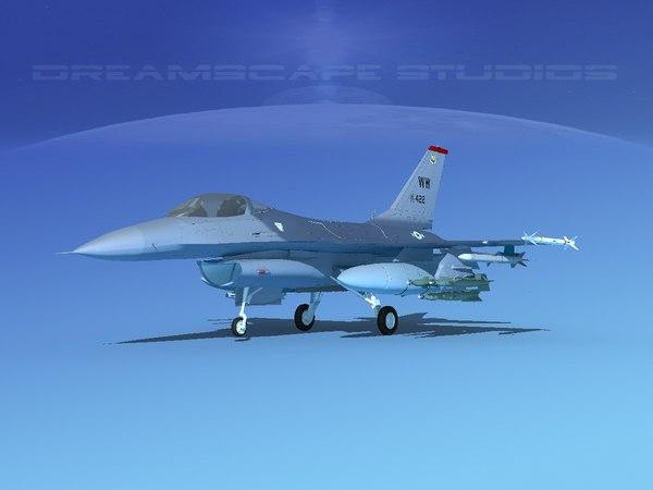 3D model general f-16a falcon dynamics