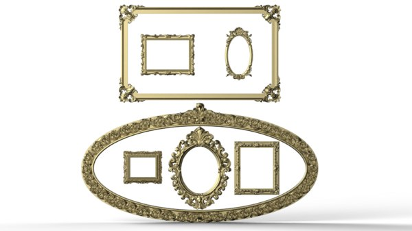 carved frame 3D