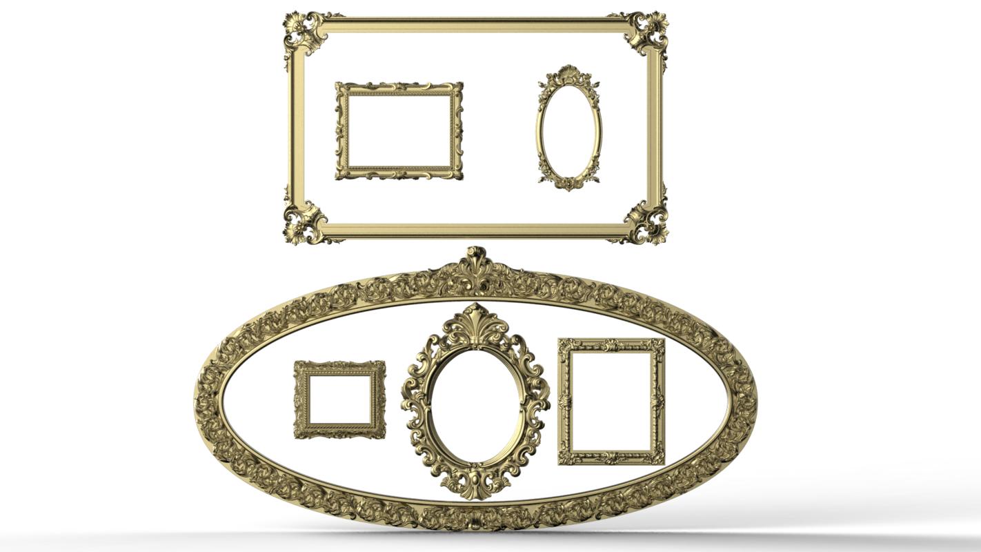 carved frame 3D