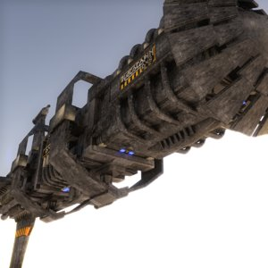 3D alien mother ship