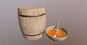 honey barrel spoon plate model