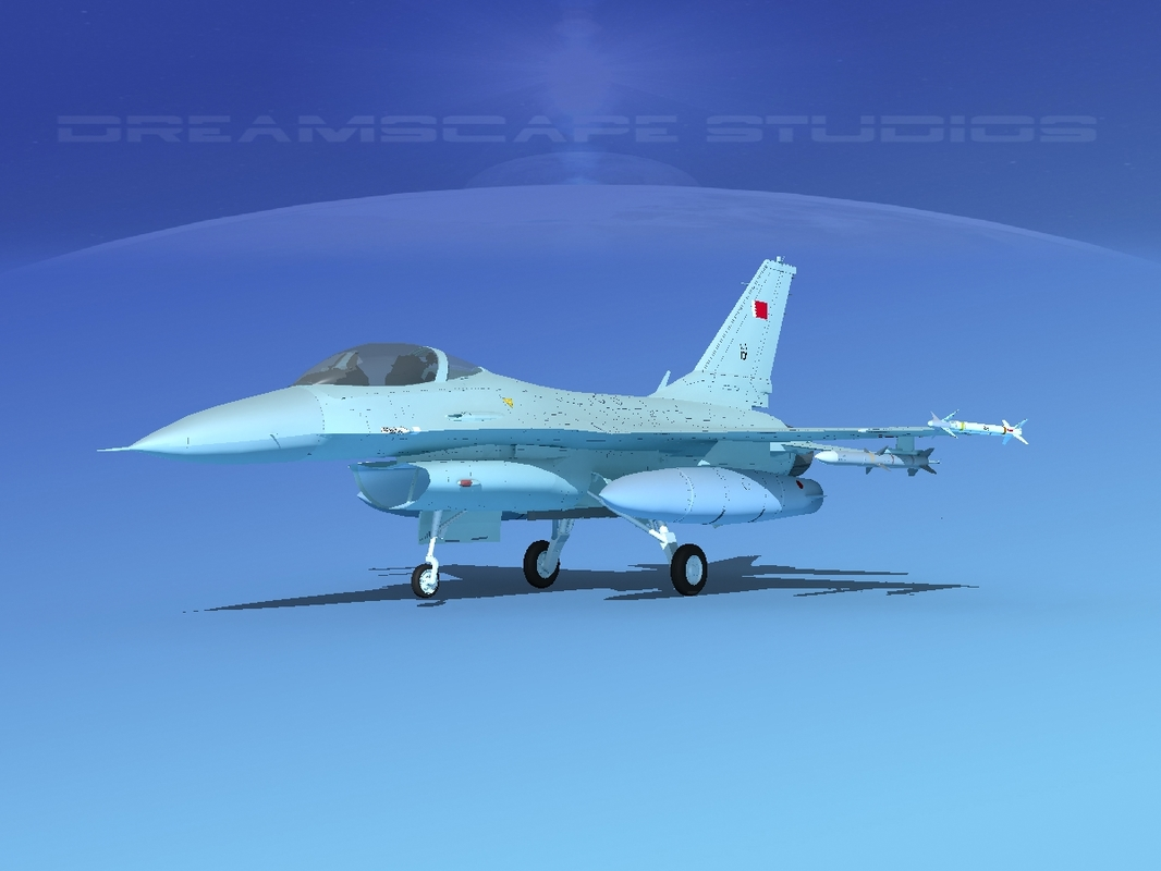 3D general f-16a fighting falcon
