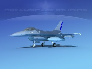 general f-16a fighting falcon 3D model
