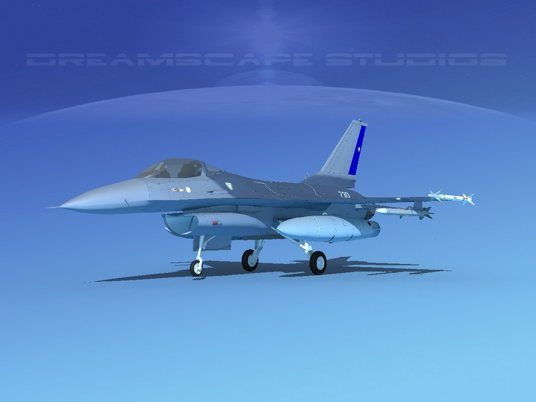 general f-16a fighting falcon 3D model