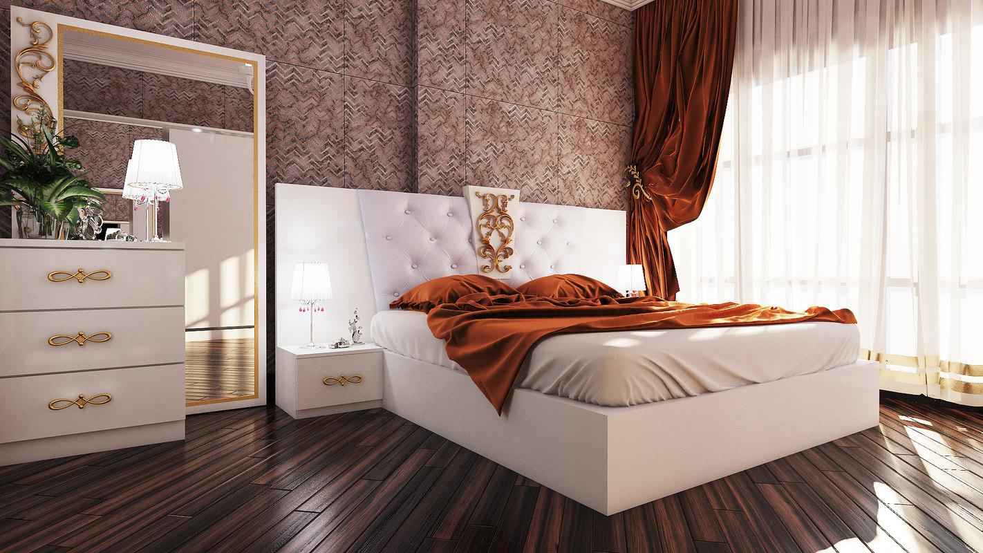 3D model bedroom avangard georgia