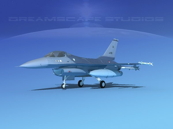 general f-16a fighting falcon model