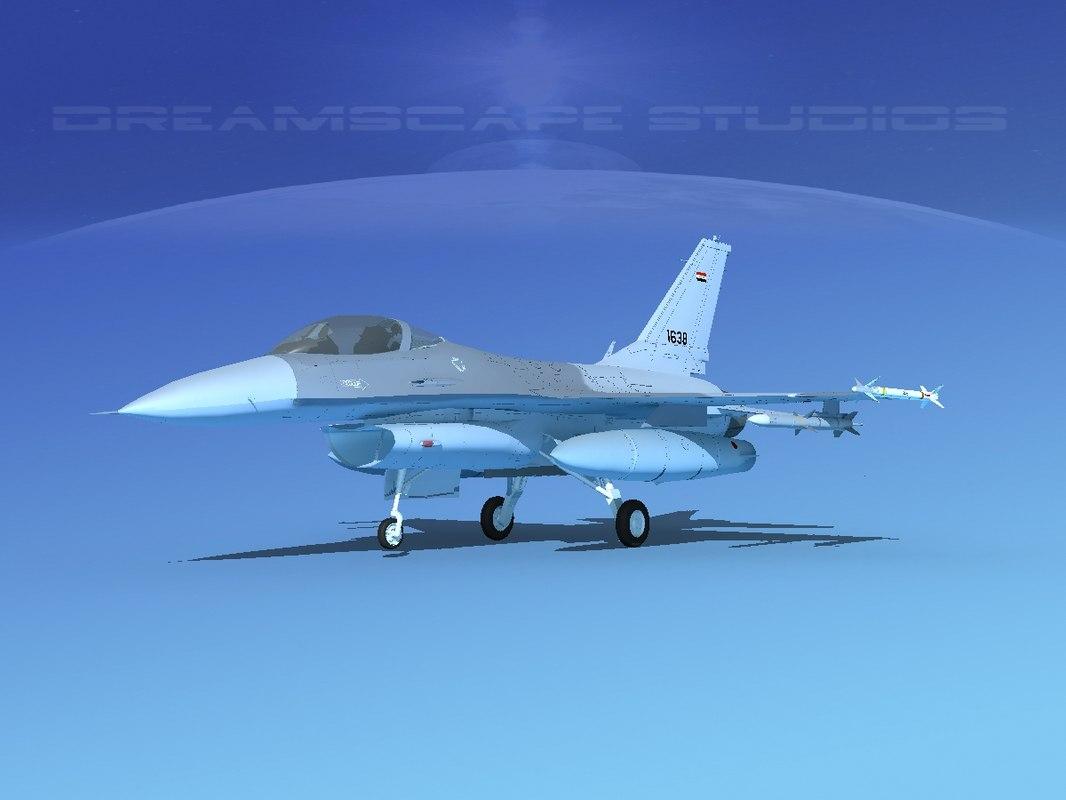3D general f-16a fighting falcon model