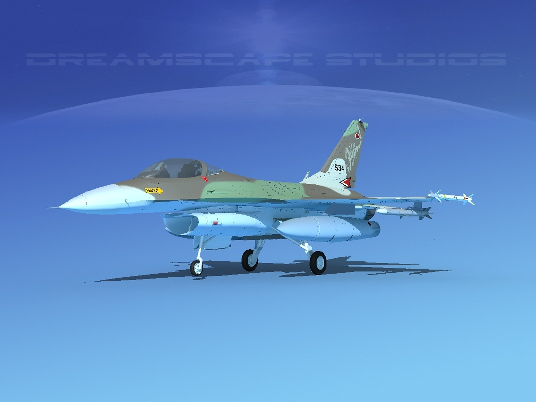 general f-16a fighting falcon 3D