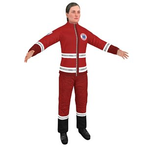3D female paramedic