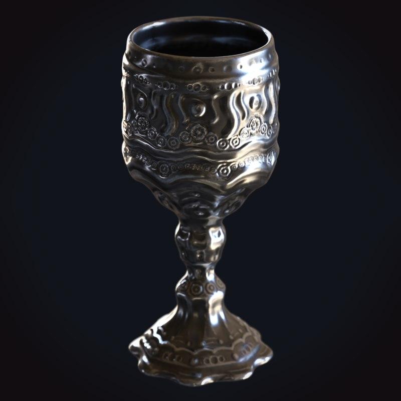 medieval goblet 1 3D model