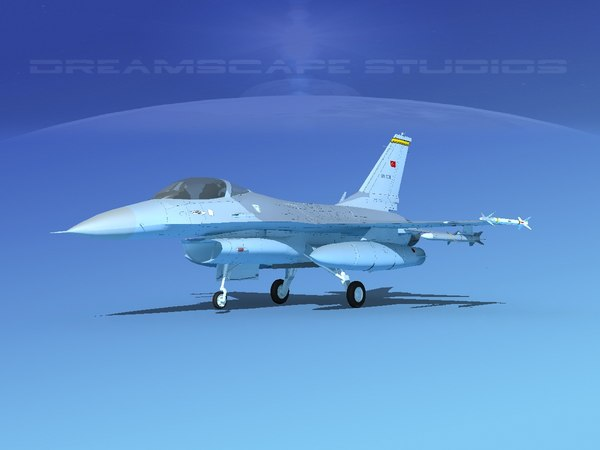 3D model general f-16a fighting falcon