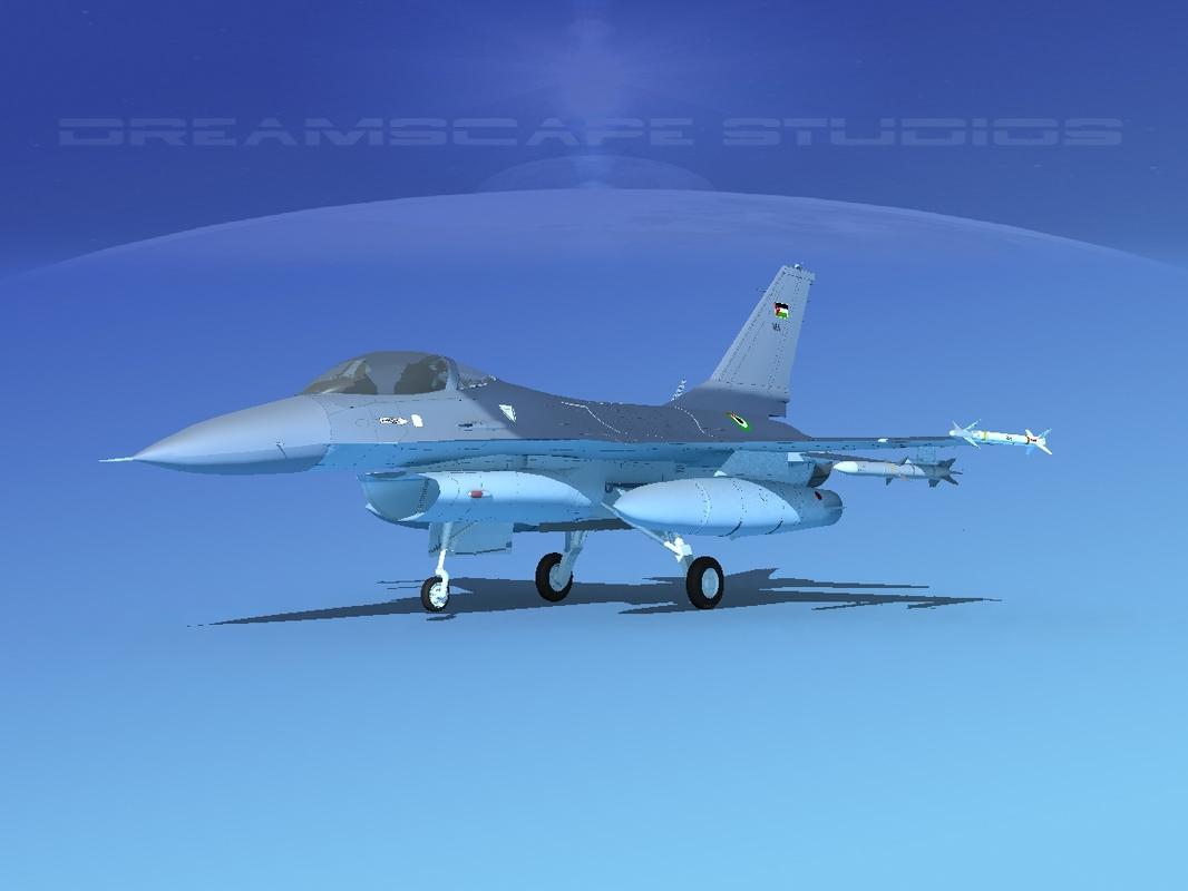 3D general f-16a fighting falcon model