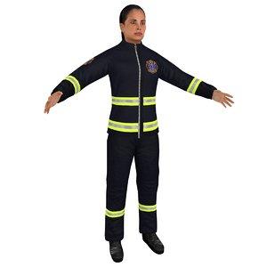 female paramedic 3D model