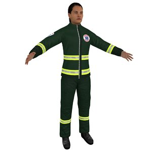 3D female paramedic model